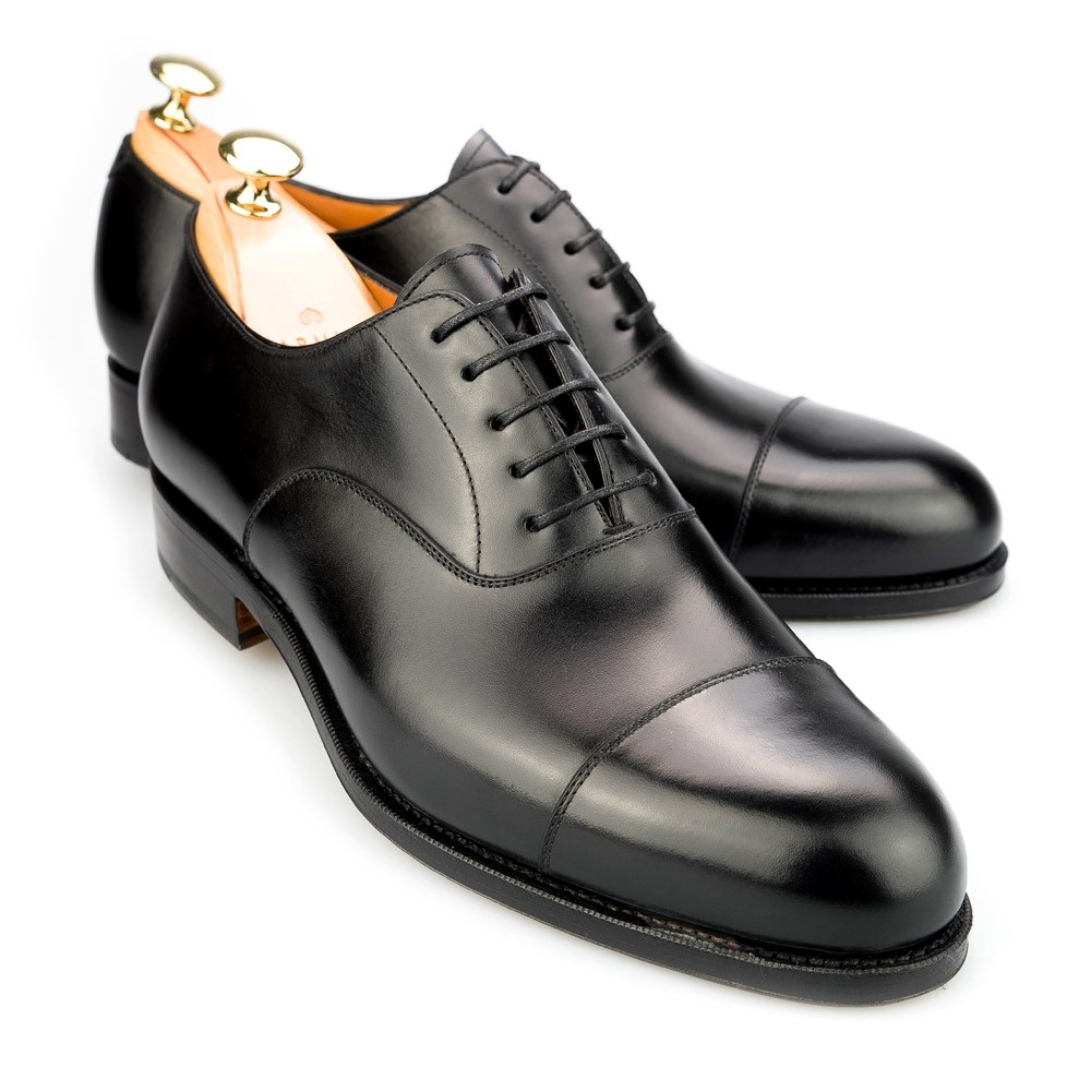Black Calf Leather Oxford Shoes