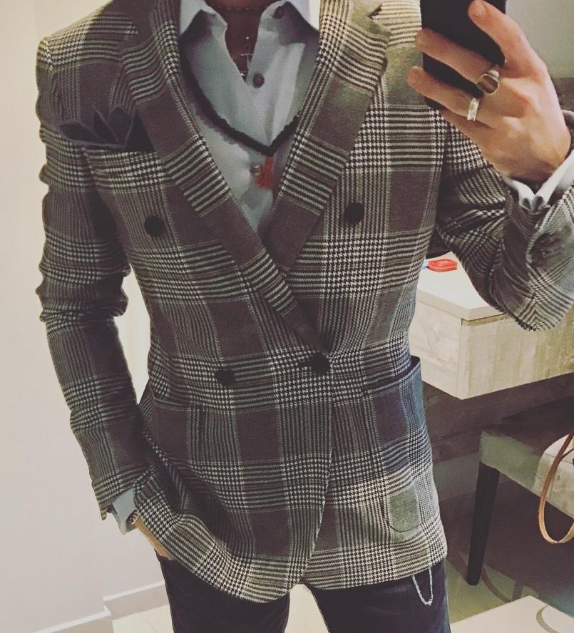 giacca doppiopetto lunga uomo